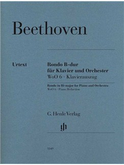 Ludwig Van Beethoven: Rondo In B Flat WoO 6 - Piano Reduction Books | Piano, Piano Accompaniment