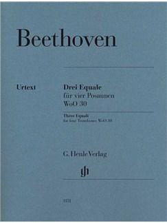 Ludwig Van Beethoven: Three Equali For Four Trombones WoO 30 Books | Trombone (Quartet)