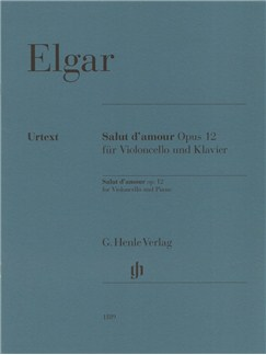 Edward Elgar: Salut d'Amour Op. 12 For Violoncello And Piano Books | Cello, Piano Accompaniment
