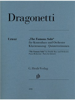 Domenico Dragonetti: The Famous Solo - Für Kontrabass Und Orchester Books | Double Bass, String Quartet, Piano