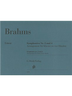 Johannes Brahms: Symphonies No. 3 And 4 - Arrangement For Piano Four-Hands Books | Piano Duet
