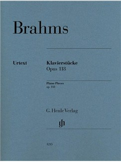 Johannes Brahms: Piano Pieces Op. 118, Nos. 1- 6 (Henle Urtext Edition) Books | Piano