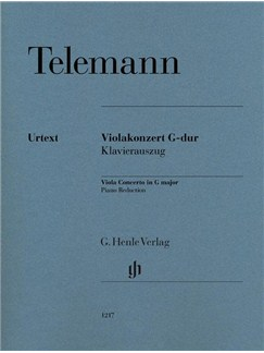 Georg Philipp Telemann: Viola Concerto In G Major (Henle Urtext Edition) Books | Viola, Piano Accompaniment