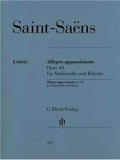 Camille Saint-Saëns: Allegro Appassionato Op. 43 For Violoncello And Piano (Henle Urtext Edition) Books | Cello, Piano Accompaniment