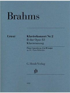 Johannes Brahms: Klavierkonzert Number 2 B Dur Op.83 - Klavierauszug Books   Piano (Duet)