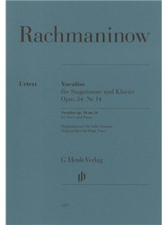 Sergei Rachmaninoff: Vocalise Op.34 No.14 For Voice And Piano Books | High Voice, Piano Accompaniment