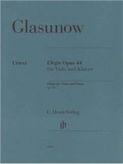 Alexander Glasunow: Élégie Op. 44 Books   Viola, Piano Accompaniment