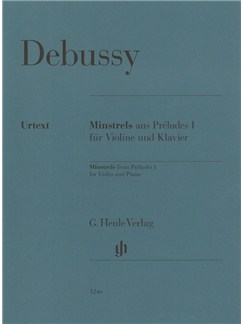 Claude Debussy: Minstrels From Préludes I For Violin And Piano Books | Violin, Piano Accompaniment