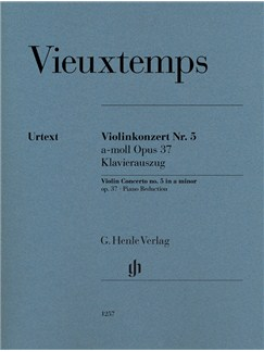 Henry Vieuxtemps: Violin Concerto No. 5 In A Minor Op. 37 Livre | Violon, Accompagnement Piano
