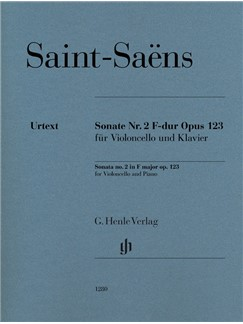Camille Saint-Saëns: Sonata For Violoncello And Piano No. 2 In F Op. 123 Books | Cello, Piano Accompaniment