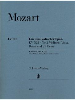 Wolfgang Amadeus Mozart: A Musical Joke K. 522 (Parts) Libro | Conjunto de Escuela