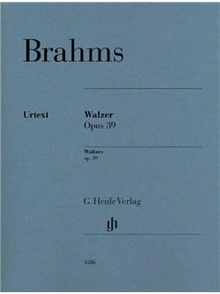 Johannes Brahms: Waltzes Op. 39 Books | Piano