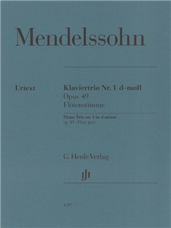 Felix Mendelssohn Bartholdy: Piano Trio Op. 49 (Additional Flute Part) Books | Piano