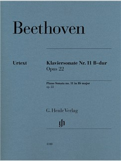 Ludwig Van Beethoven: Piano Sonata No. 11 In B Flat Op. 22 Books | Piano