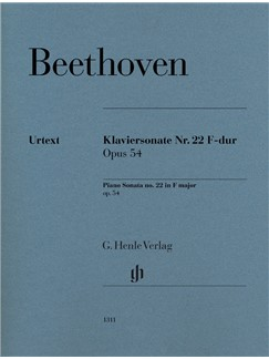 Ludwig Van Beethoven: Piano Sonata No. 22 In F Op. 54 Books | Piano