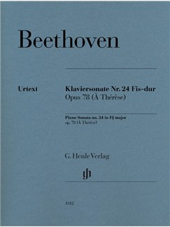 Ludwig Van Beethoven: Piano Sonata No. 24 In F Sharp Op. 78 (À Thérèse) Books | Piano