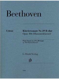 Ludwig Van Beethoven: Piano Sonata No. 29 In B-Flat Op. 106 (Hammerklavier) Books | Piano