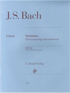 J.S. Bach: Sinfonias (Three Part Inventions) Books | Piano