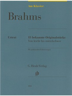 Johannes Brahms: Am Klavier - 15 Bekannte Originalstücke (German Language Edition) Books | Piano