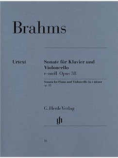 Johannes Brahms: Cello Sonata In E Minor Op.38 (Urtext Edition) Books | Cello, Piano Accompaniment