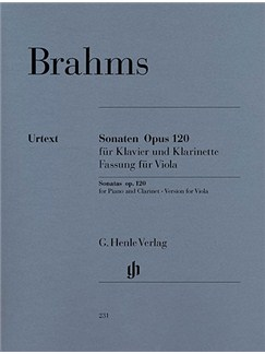 Johannes Brahms: Sonatas For Piano And Clarinet (Or Viola) Op.120, 1 and 2 (Version For Viola) Books | Viola, Piano Accompaniment