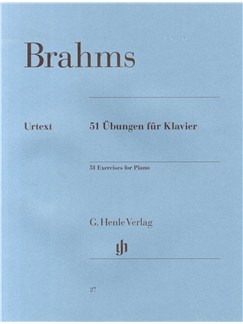 Johannes Brahms: 51 Exercises For Piano Books | Piano