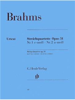 Johannes Brahms: String Quartets Op.51 (Henle Urtext Edition) Books | String Quartet