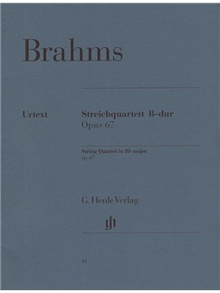 Johannes Brahms: String Quartet In B Flat Op.67 (Urtext) Books | String Quartet