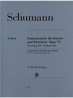 Robert Schumann: Fantasy Pieces For Piano And Clarinet Op.73 (Version For Cello) Books | Violoncello and piano