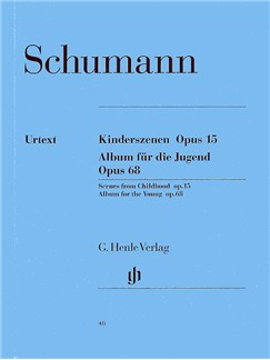 Robert Schumann: Kinderszenen Op.15/Album Fur Die Jugend Op.68 (Henle Urtext Edition) Books | Piano
