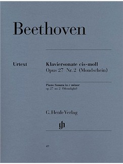 Ludwig Van Beethoven: Piano Sonata In C Sharp Minor 'Moonlight' Op.27 No.2 (Urtext Edition) Books   Piano