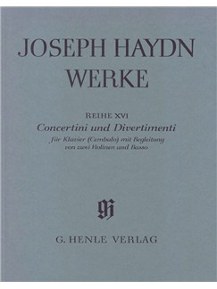 Joseph Haydn: Concertini and Divertimenti for Piano (Harpsichord) with accompaniment of two Violins and Bass Books | Piano