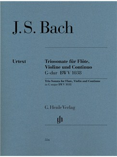 J.S. Bach: Trio Sonata In G BWV 1038 Books | Flute, Violin, Continuo