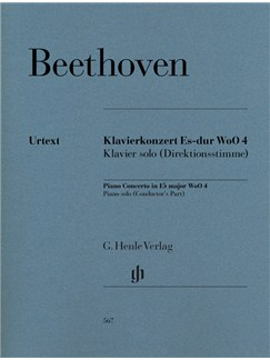 Ludwig Van Beethoven: Piano Concerto In E Flat WoO 4 (Henle Urtext) Books | Piano