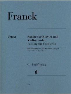 César Franck: Sonata For Piano And Violin In A - Version For Violoncello (Henle Urtext Edition) Books   Cello, Piano Accompaniment