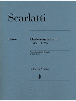 Domenico Scarlatti: Piano Sonata In E K.380 L.23 (Urtext) Books | Piano