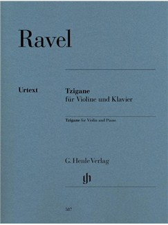 Maurice Ravel: Tzigane For Violin And Piano (Henle Urtext Edition) Books | Violin, Piano Accompaniment