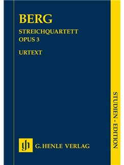 Alban Berg: String Quartet Op. 3 Books | String Quartet