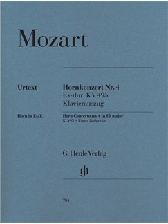 Wolfgang Amadeus Mozart: Concerto For Horn And Orchestra No. 4 Eb Major K. 495 Books | Horn and piano