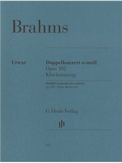 Johannes Brahms: Double Concerto A Minor Op. 102 Books | Cello, Violin
