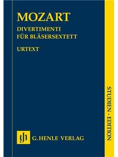 W. A. Mozart: Divertimenti For Wind Sextet (Study Score) Books | Wind Instruments (Sextet)