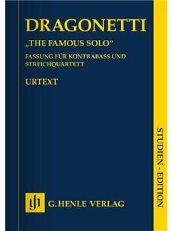 Domenico Dragonetti: 'The Famous Solo' Books | Double Bass, String Quartet