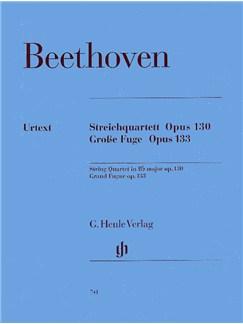 Ludwig Van Beethoven: Streichquartett Op.130/Grosse Fuge Op.133 (Henle Urtext Edition) Books | String Quartet