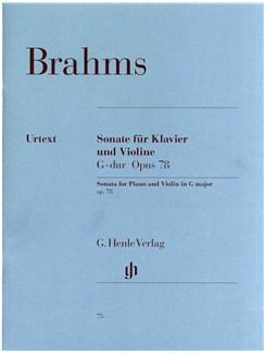 Johannes Brahms: Sonata For Piano And Violin In G Major Op.78 Books | Violin, Piano Accompaniment
