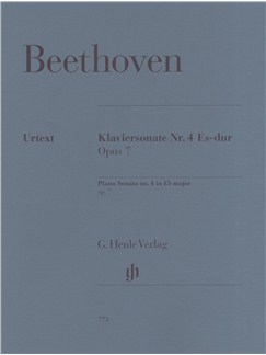 Ludwig Van Beethoven: Piano Sonata No.4 In Eb Major Op.7 (Henle Urtext) Books | Piano