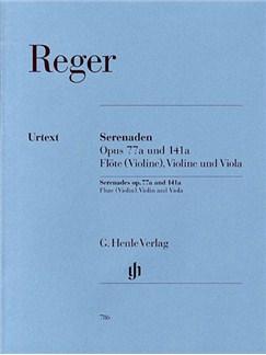 Max Reger: Serenades Op.77a And Op.141a (Henle Urtext Edition) - Parts Books | Flute, Violin, Viola