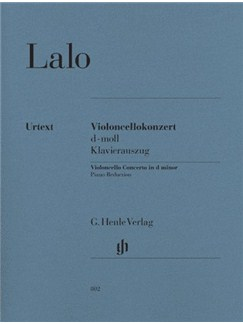 Édouard Lalo: Violoncello Concerto In D Minor - Cello/Piano (Urtext) Books | Cello, Piano Accompaniment