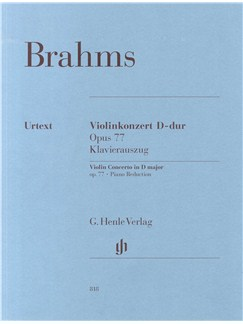 Johannes Brahms: Violin Concerto In D Major Op.77 - Piano Reduction Books | Violin, Piano Accompaniment