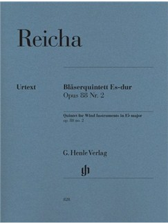 Anton Reicha: Quintet For Wind Instruments In E flat Op.88 No.2 (Parts) Books | Wind Quintet