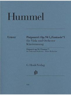 Johann Nepomuk Hummel: Potpourri Op.94 (Viola and Piano) Books and CDs | Viola, Piano Accompaniment